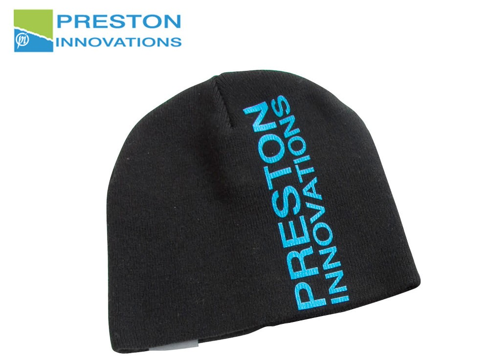 Preston innovations Black Beanie Hat kapa